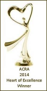 ACRA 2014 Heart of Excellence Winner's Trophy